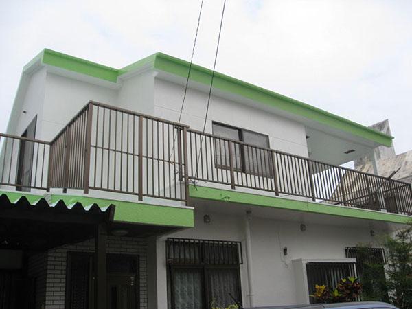 塗装後の沖縄県宜野湾市T邸