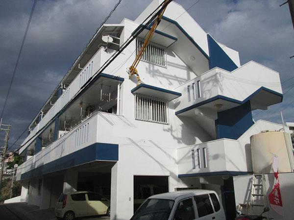 塗装後の沖縄県南風原町Kアパート様