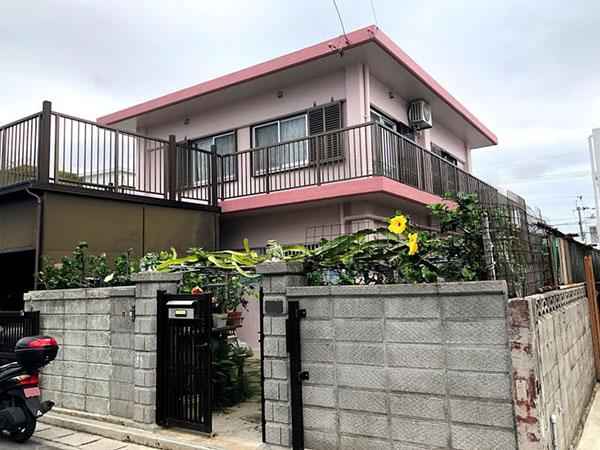 塗装後の沖縄県南風原町T邸