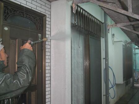 高圧水洗浄1