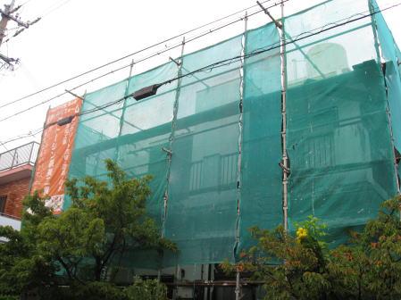 家の足場組立工事