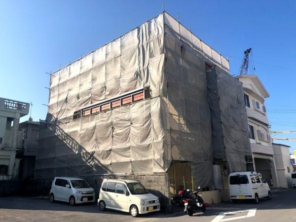 糸満市K邸の足場工事