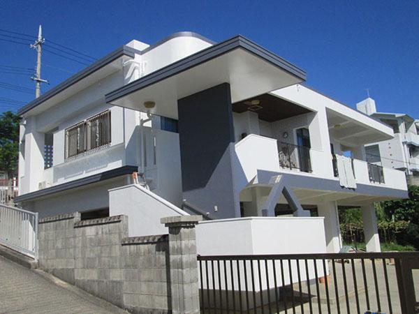 塗装後の沖縄県糸満市N邸