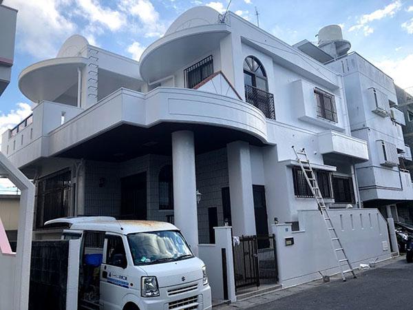 塗装後の沖縄県糸満市T邸