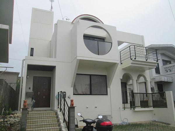 塗装後の沖縄県北中城村T邸