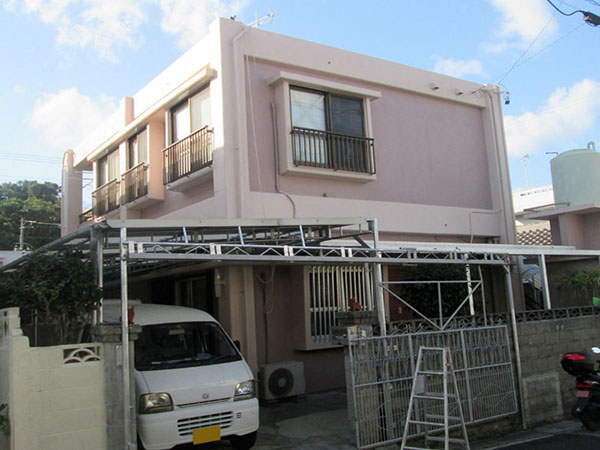 塗装後の沖縄県那覇市H邸