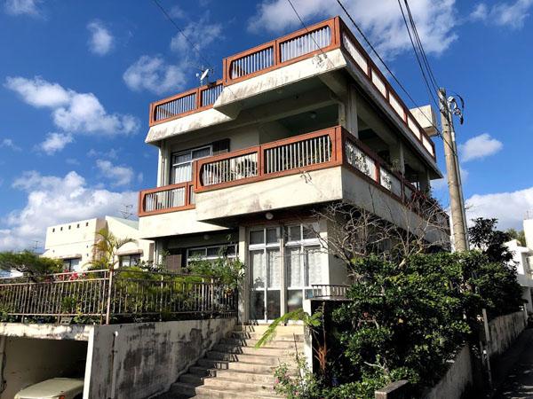 塗装前の沖縄県那覇市M邸1