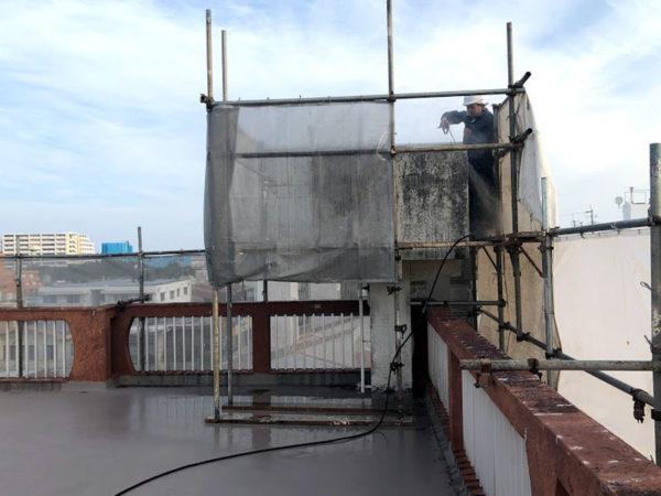 那覇市M邸の高圧水洗浄