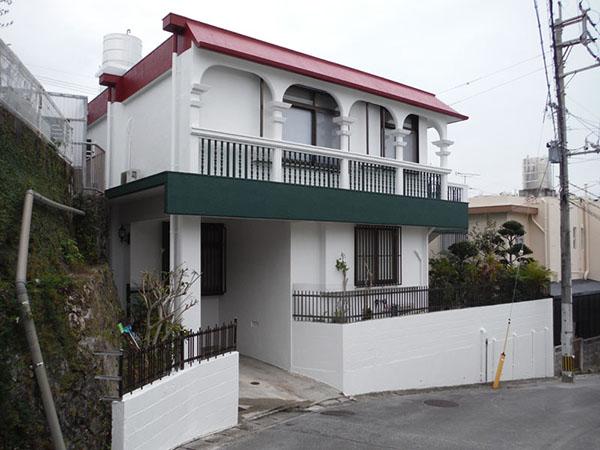 塗装後の沖縄県那覇市M邸