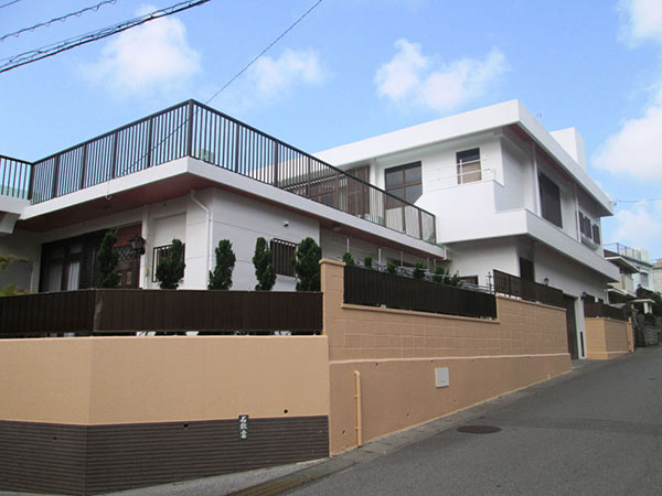 塗装後の沖縄県那覇市N邸