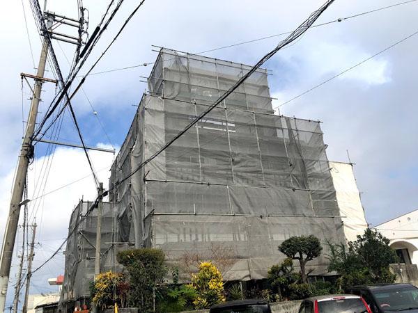 那覇市Oアパート様の足場工事3