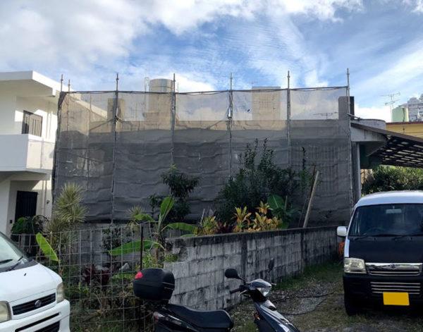 那覇市O邸の足場工事