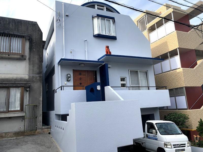 外壁塗装・遮熱防水工事後の沖縄県那覇市S邸