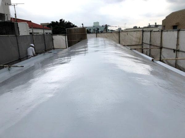 那覇市S邸の屋上遮熱塗膜防水工事後