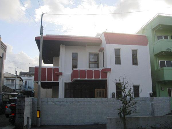 塗装後の沖縄県那覇市W邸