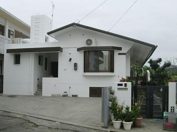 塗装後の沖縄県南城市K邸