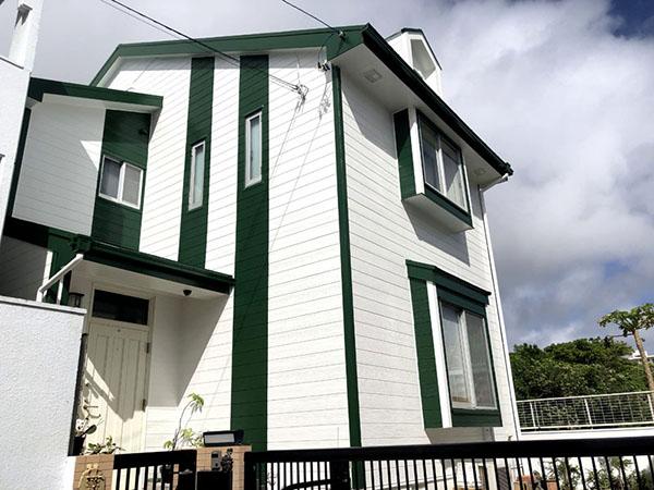 塗装後の沖縄県西原町I邸