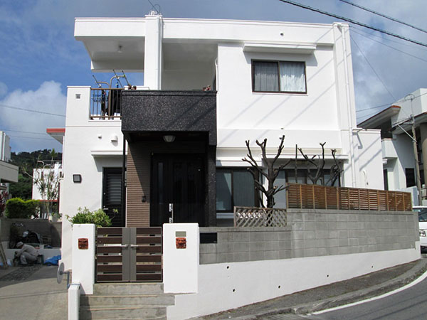塗装後の沖縄県西原町K邸