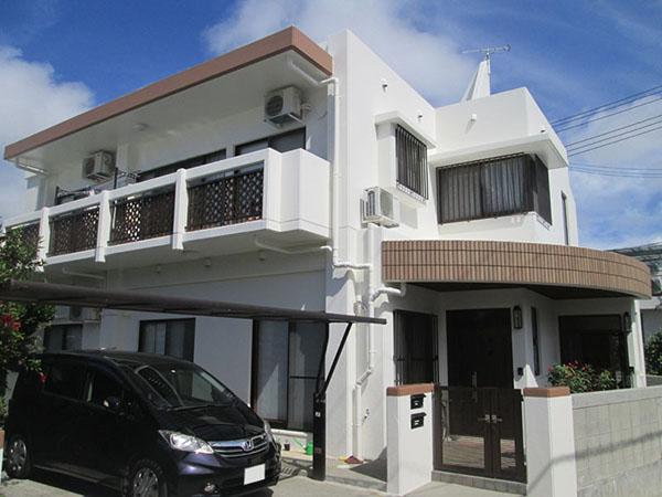 塗装後の沖縄県西原町T邸