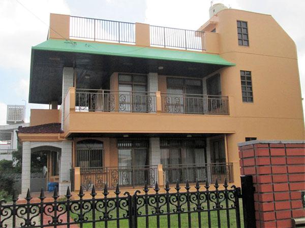 塗装後の沖縄県西原町Y邸