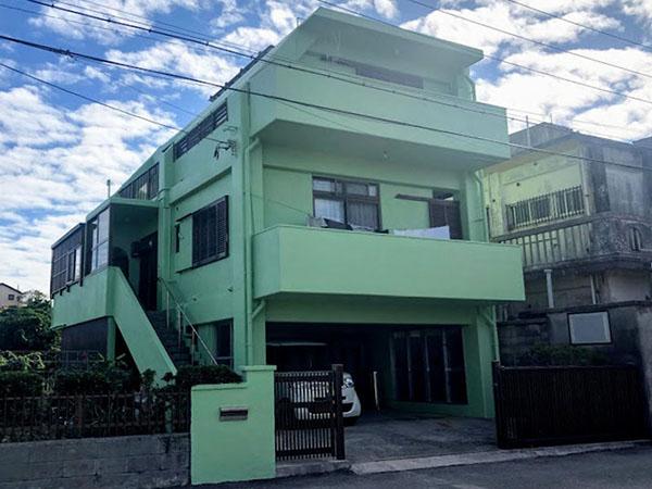 塗装後の沖縄県豊見城市I邸