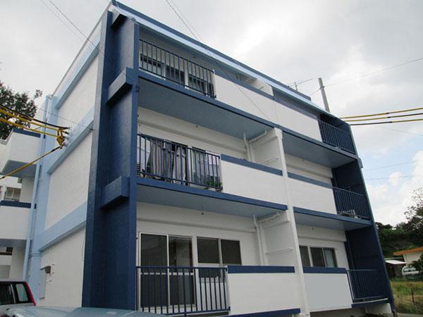 塗装後の沖縄県豊見城市Kアパート様