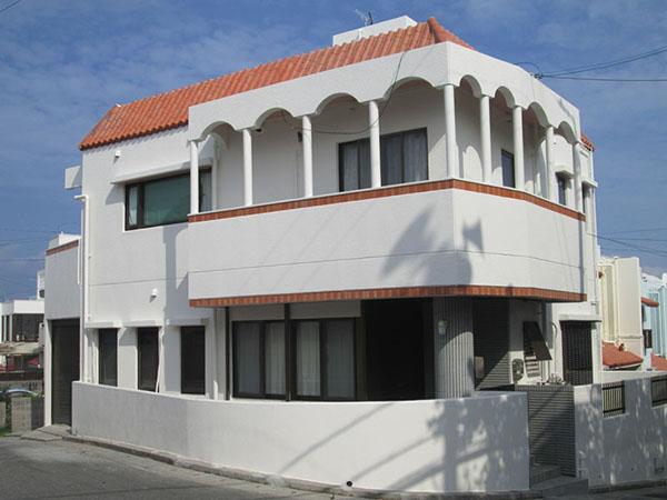塗装後の沖縄県豊見城市K邸