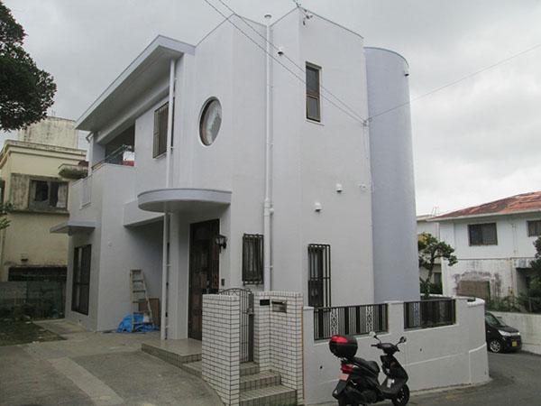 塗装後の沖縄県豊見城市M邸