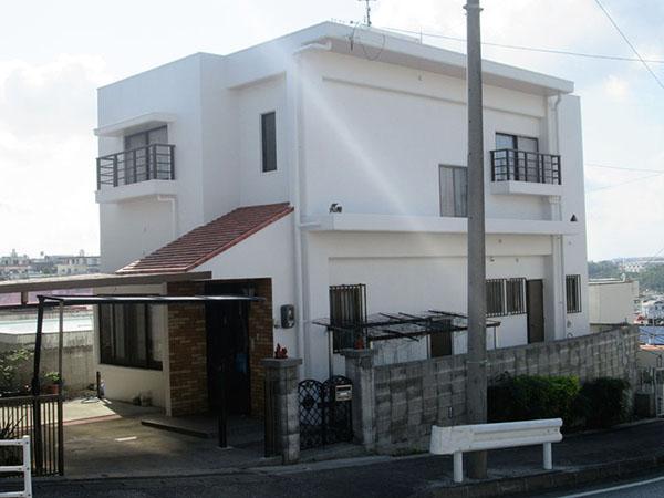 塗装後の沖縄県豊見城市N邸