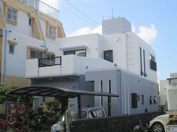 塗装後の沖縄県豊見城市O邸