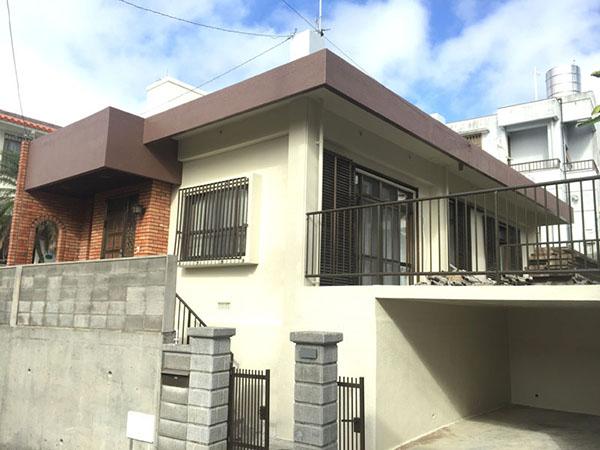 塗装後の沖縄県豊見城市S邸