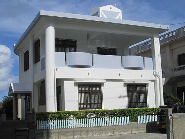 塗装後の沖縄県北谷町I邸