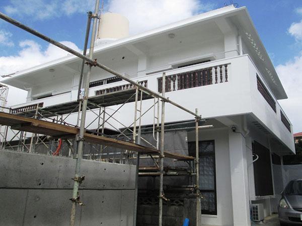 塗装後の沖縄県浦添市K邸