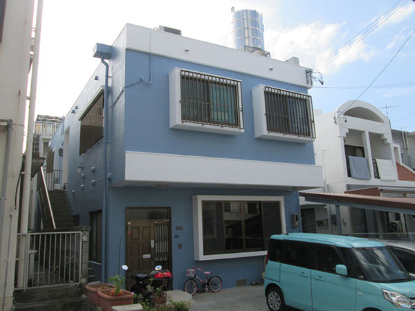 塗装後の沖縄県塗装前の浦添市K邸