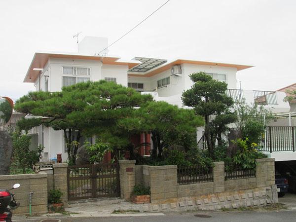 塗装後の沖縄県浦添市N邸