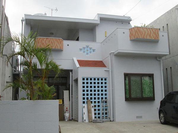 塗装後の沖縄県浦添市Y邸