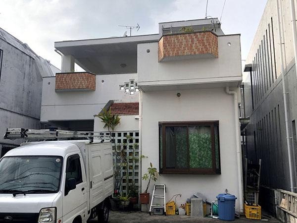 塗装前の沖縄県浦添市Y邸
