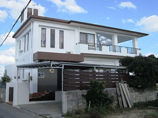 塗装後の沖縄県うるま市M邸
