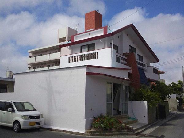 塗装後の沖縄県八重瀬町G邸