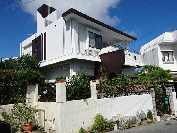 塗装後の沖縄県八重瀬町M邸