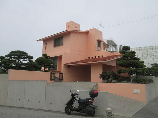 塗装後の沖縄県八重瀬町T邸