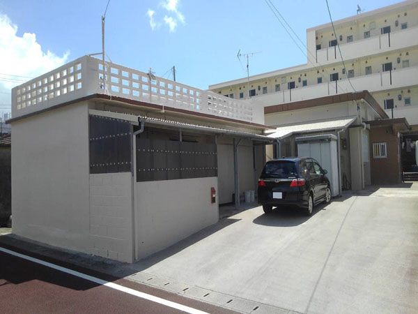 塗装後の沖縄県読谷村Y邸