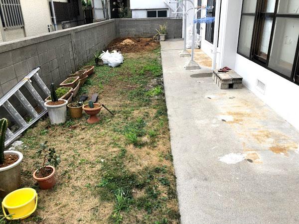 沖縄県糸満市T邸の土間工事前