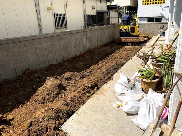 糸満市T邸の土間工事