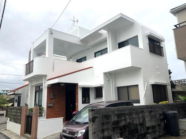 塗装後の沖縄県豊見城市S邸1
