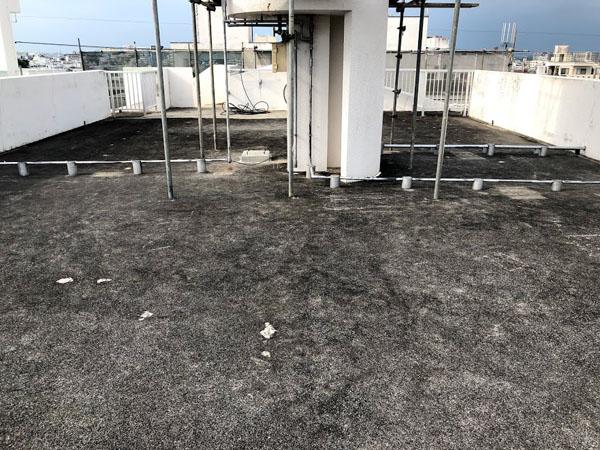 沖縄県那覇市Nアパート様の高圧水洗浄工事前