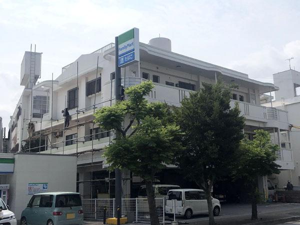 沖縄県那覇市Nアパート様の足場工事