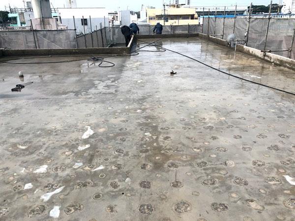 沖縄県那覇市O邸の高圧水洗浄工事