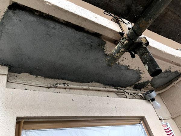 沖縄県宜野湾市I様のコンクリート剥離部補修。