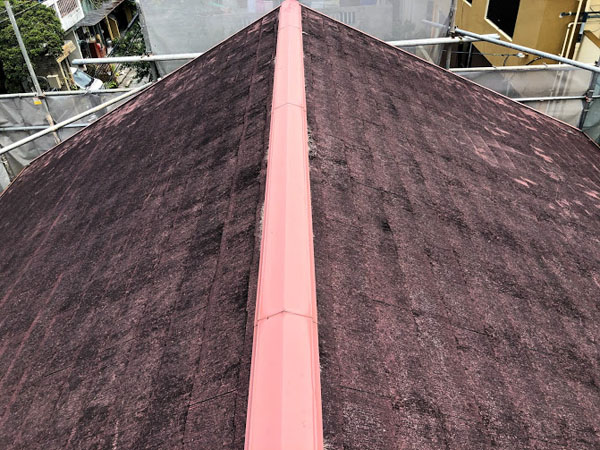 沖縄県那覇市K邸の屋根遮熱工事前。